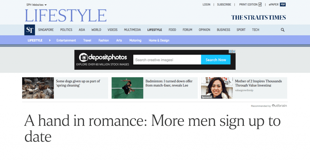A hand in romance: More men sign up to date
