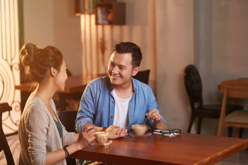 Loving Asian Couple on Date